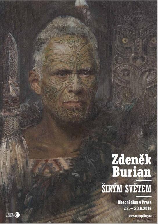 Maori, plákát A3, Zdeněk Burian, Širým světem