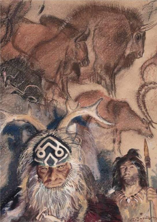 Šaman z doby kamenné, J. Augusta