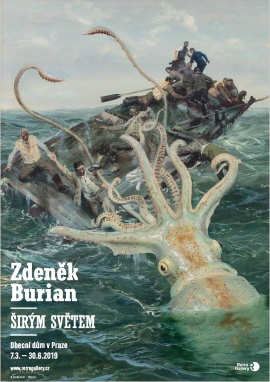 Krakatice, plakát A3, Zdeněk Burian